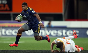 Waisake Naholo slips past the Chiefs