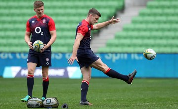 Owen Farrell (L) and George Ford can become rugby legends
