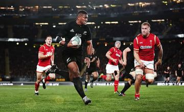 Waisake Naholo on the run for the All Blacks last weekend