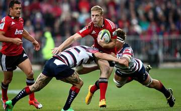 Johnny McNicholl gets caught by the Rebels on attack