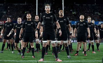 The All Blacks prepare for the Haka