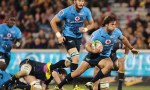Jan Serfontein of the Bulls runs the ball during the round 11 Super Rugby match between the Brumbies and the Bulls