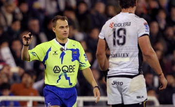 Super Rugby referee Marius van der Westhuizen