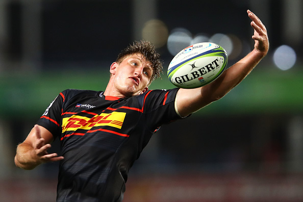 Kobus van Dyk of the Stormers wins the ball in the lineout during the round two Super Rugby match between the Waratahs and the Stormers