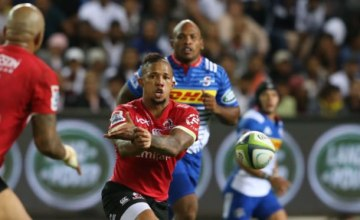 Elton Jantjies of the Lions during the Super Rugby match between Stormers and Emirates Lions at Newlands