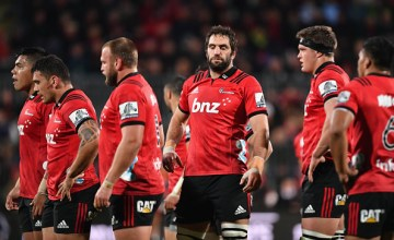Captain Samuel Whitelock of the Crusaders (C) returns to Super rugby this weekend