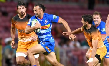 Dillyn Leyds of the Stormers during round 5 of the Super Rugby match between DHL Stormers and Jaguares at DHL Newlands on March 15, 2019 in Cape Town, South Africa