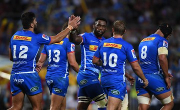Siya Kolisi Super rugby captain of the Stormers celebrates the try