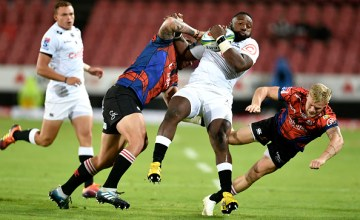 Tendai Mtawarira became South Africa's most capped Super Rugby player, making his 157th appearance for the Sharks in their defeat of the Lions at Ellis Park, Johannesburg