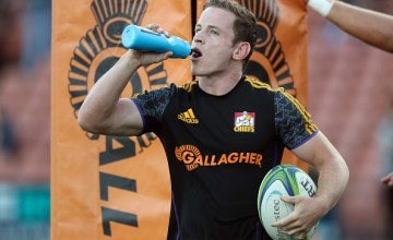 Chiefs Brad Weber has a drink during the warm up