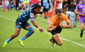 Emiliano Boffelli grabbed a brace in the Jaguares' 24-39 victory over the beleaguered Bulls at Loftus Versfeld, Pretoria