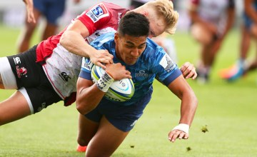 Rieko Ioane grabbed a brace as the Blues mauled the listless Lions with a six-try bonus-point victory at Eden Park, Auckland