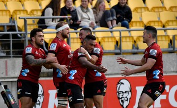 The Crusaders put the Hurricanes to the sword at Sky Stadium, Wellington