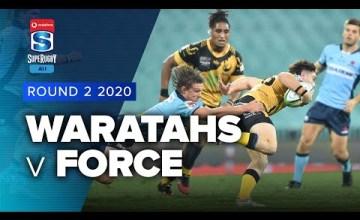Waratahs v W.Force Rd.2 2020 Super rugby AU video highlights