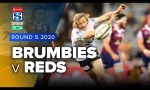 Brumbies v Reds Rd.5 2020 Super rugby AU video highlights