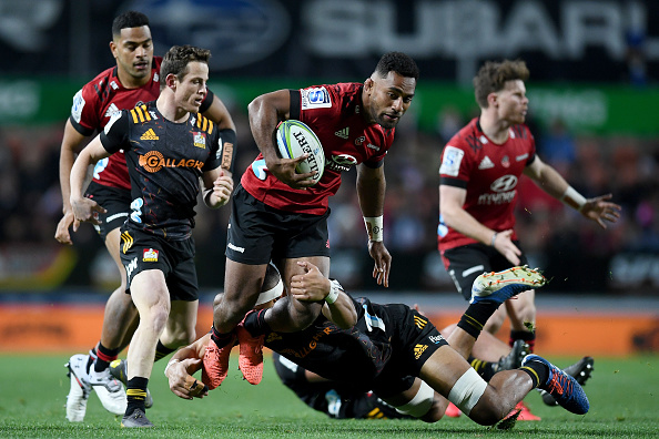 Sevu Reece scored a controversial try as the Crusaders beat the Chiefs 19-32 at FMG Waikato Stadium, Hamilton
