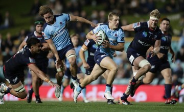 Joey Walton races away to score in the Waratahs' 32-38 win over the Rebels at Leichhardt Oval, Sydney