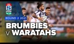 Brumbies v Waratahs Rd.2 2021 Super rugby AU video highlights | Super Rugby