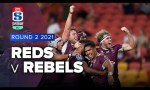 Reds v Rebels Rd.2 2021 Super rugby AU video highlights | Super Rugby