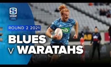 Blues v Waratahs Rd.2 2021 Super rugby Trans Tasman video highlights