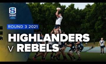 Highlanders v Rebels Rd.3 2021 Super rugby Trans Tasman video highlights