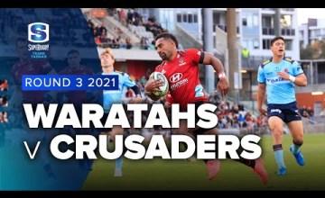 Waratahs v Crusaders Rd.3 2021 Super rugby Trans Tasman video highlights