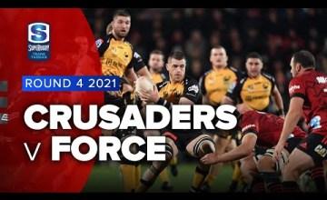 Crusaders v Force Rd.4 2021 Super rugby Trans Tasman video highlights