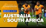 Australia v South Africa Rd.4 2021 Rugby Championship video highlights