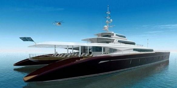 Blue Coast 203 Giant 62m Catamaran Concept