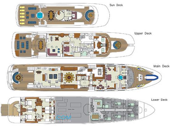 Starfire Layout Benetti Motor Yacht Yacht