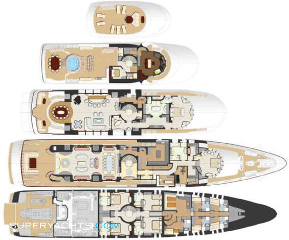 Diamonds Are Forever Yacht Layout Benetti