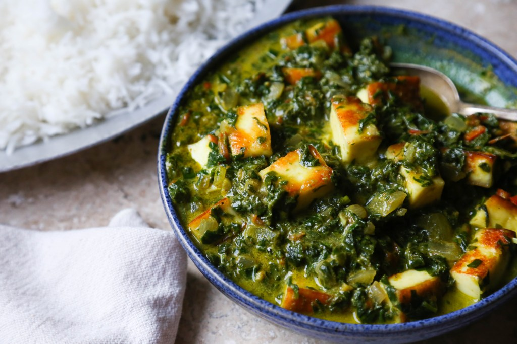 Creamy Spinach and Paneer - Supper With Michelle