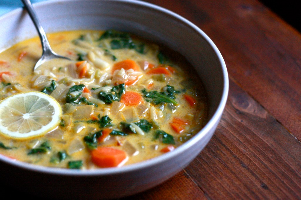 Lemon and Spinach Orzo Soup - Supper With Michelle