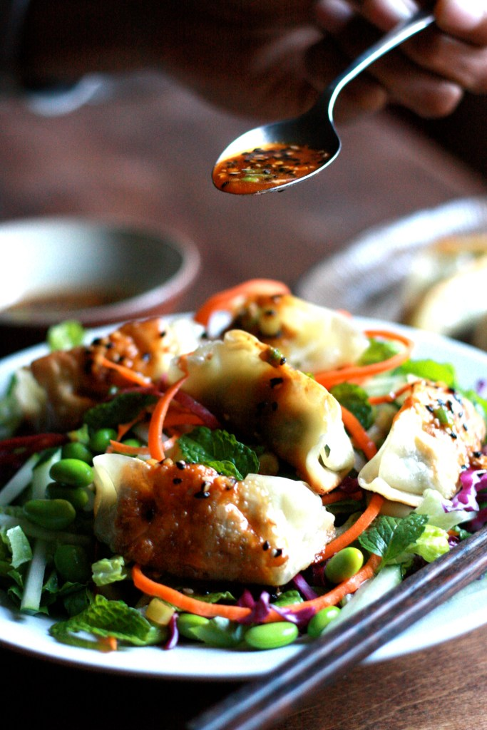 Spicy Vegetable Gyoza Salad - Supper With Michelle