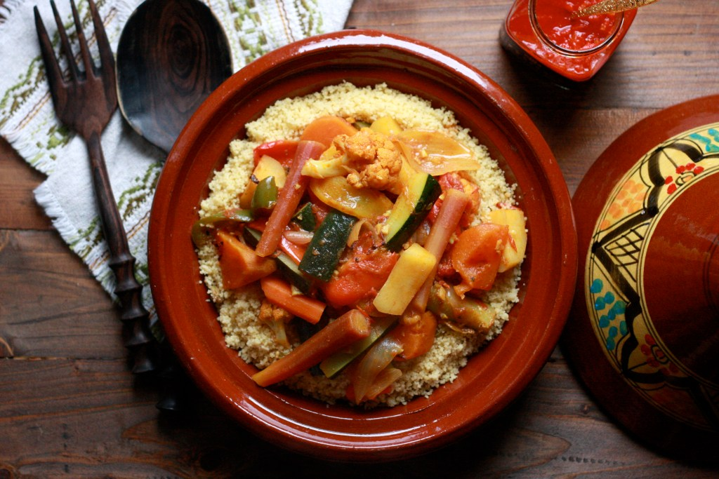 Moroccan Style Vegetables Couscous - Harissa - Supper With Michelle