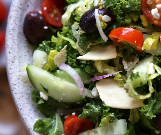 Mediterranean Inspired Kale Salad - Supper With Michelle