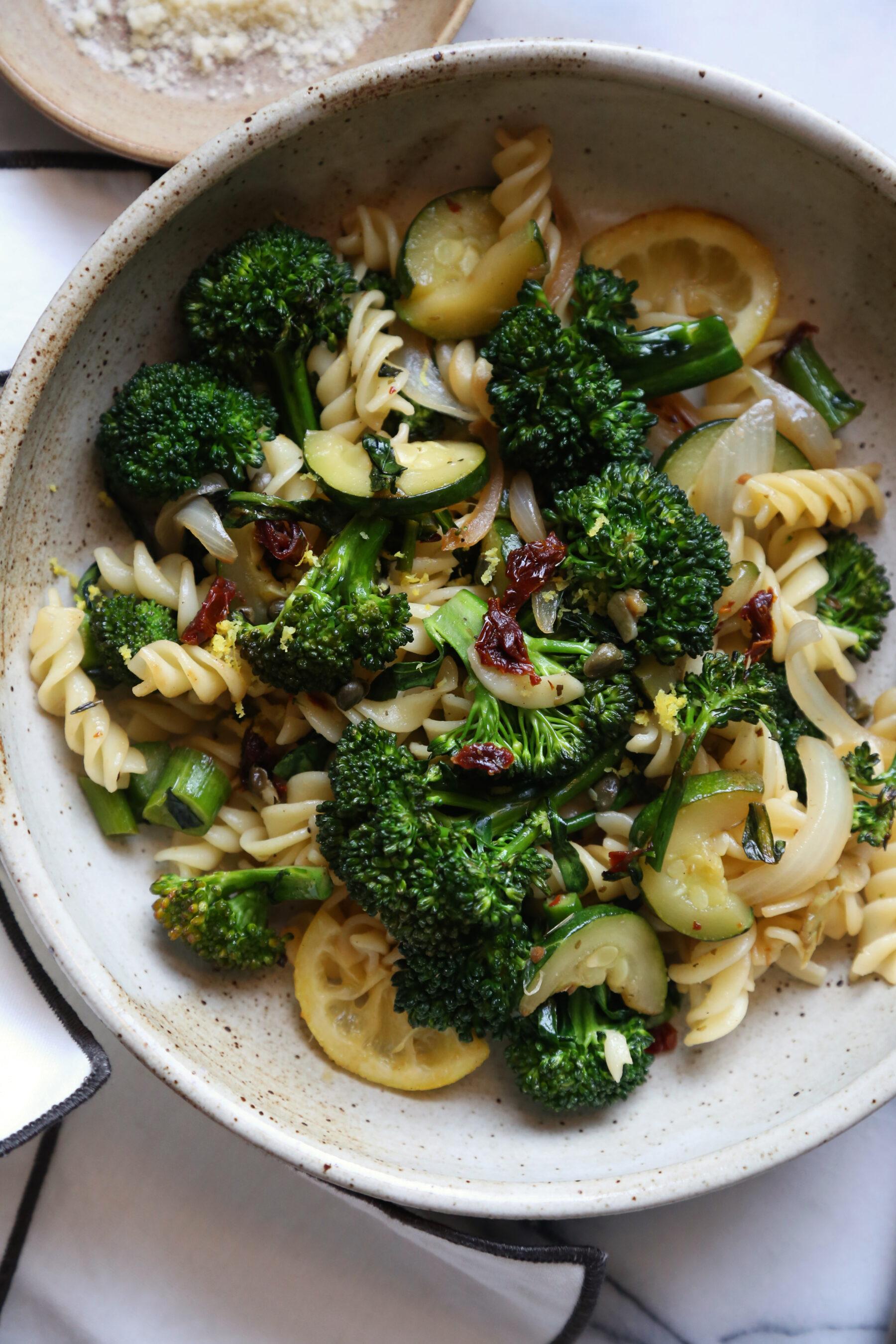 Lemony Broccolini Pasta