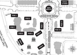 Hogtown Craft Beer Fest 2015 map