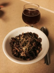 Brown Ale Chili made with the Bell's Best Brown Ale.