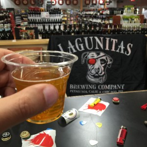 Lagunitas Little Sumpin' Sumpin' Ale at the Lagunitas Beer tasting at Lucky's Market