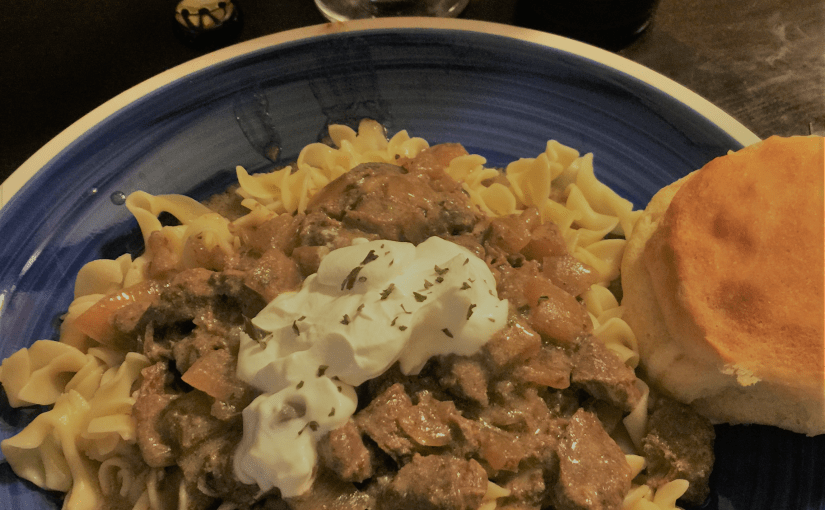 Craft Beer Stroganoff!