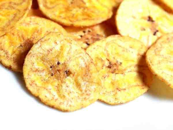 Getrocknete Bananenchips