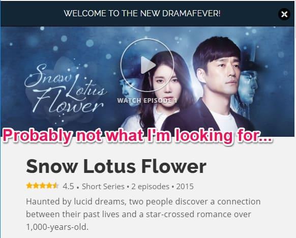 Snow Lotus Flower Korean Drama