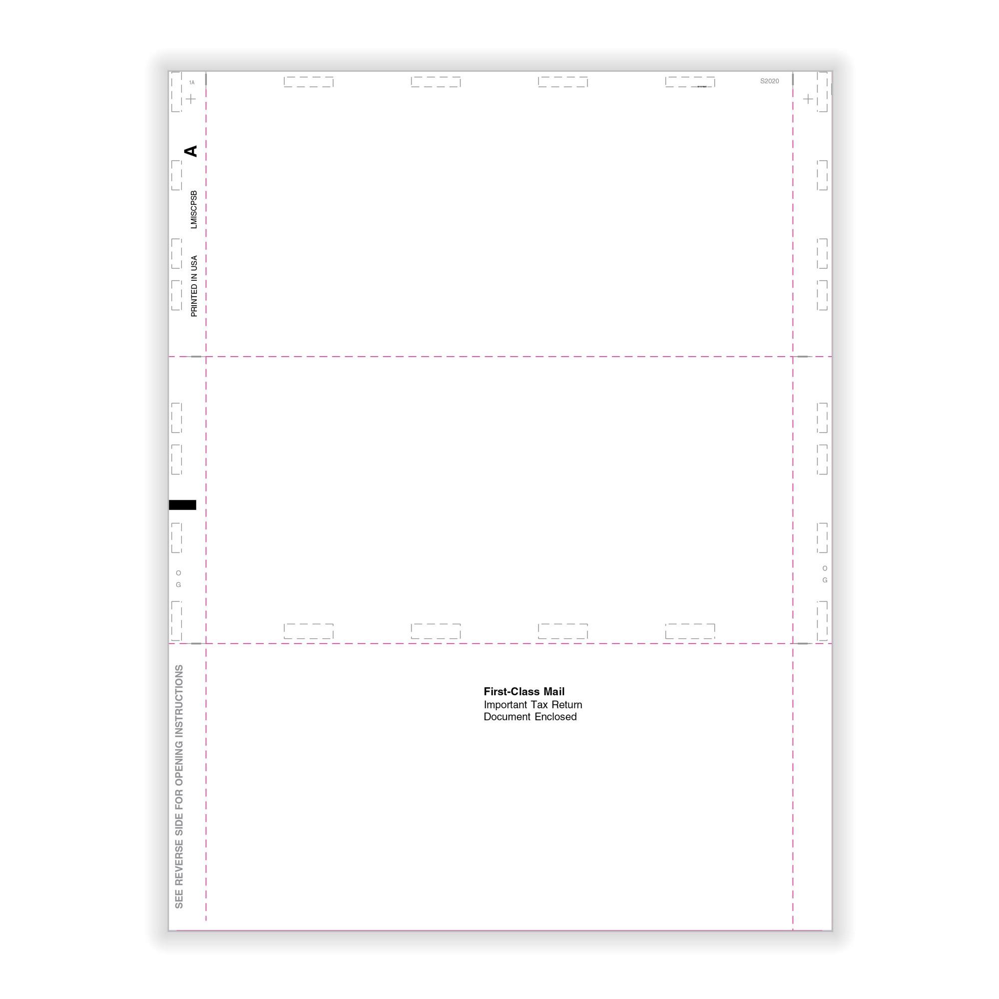 Misc Miscellaneous Blank Face Backer 11 Z Fold 500