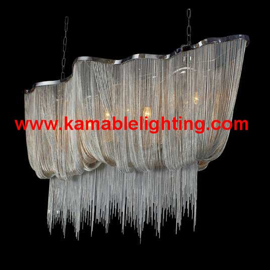 Silver Chain Pendant Lighting