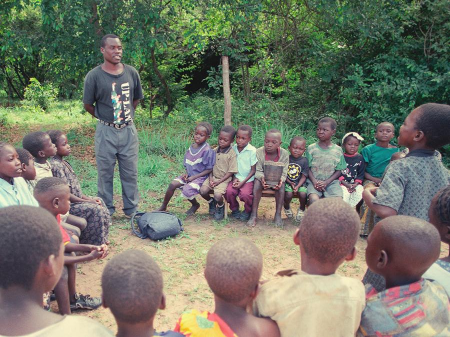 Bahai children's class in Ntambo, Zambia