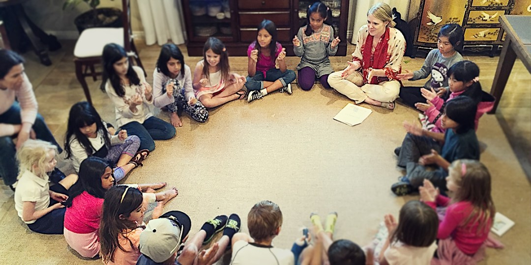 Bahai Grade 1 children's class in San Diego, California, USA