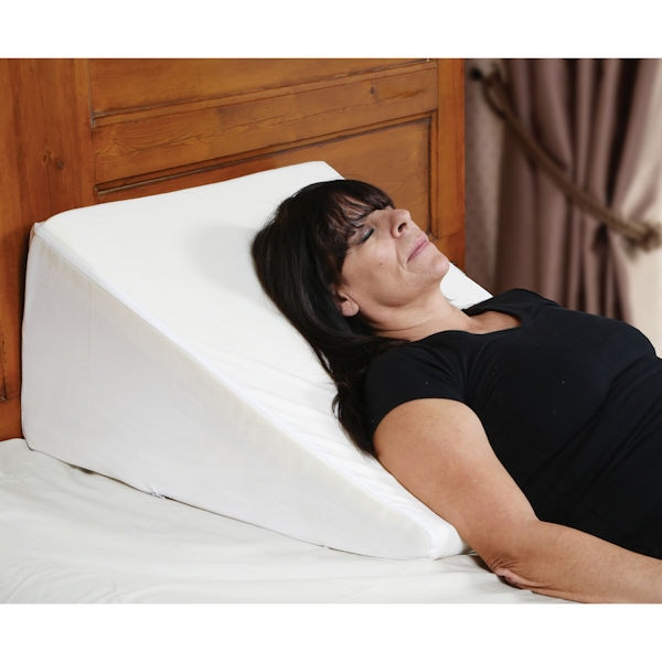 support plus bed wedge pillow memory foam cushion cover large 12 5 high
