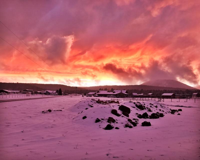 Post-snowstorm Sunset In Flagstaff