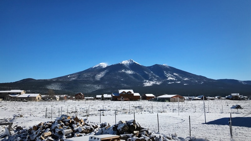 Humphreys Peak From The Homestead